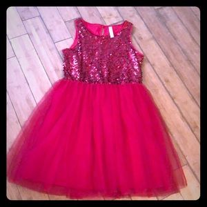Cherokee girls red sequin and tulle dress XL